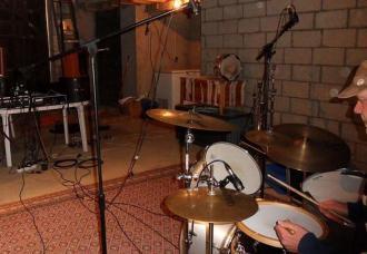 Tim Bragg in the recording room